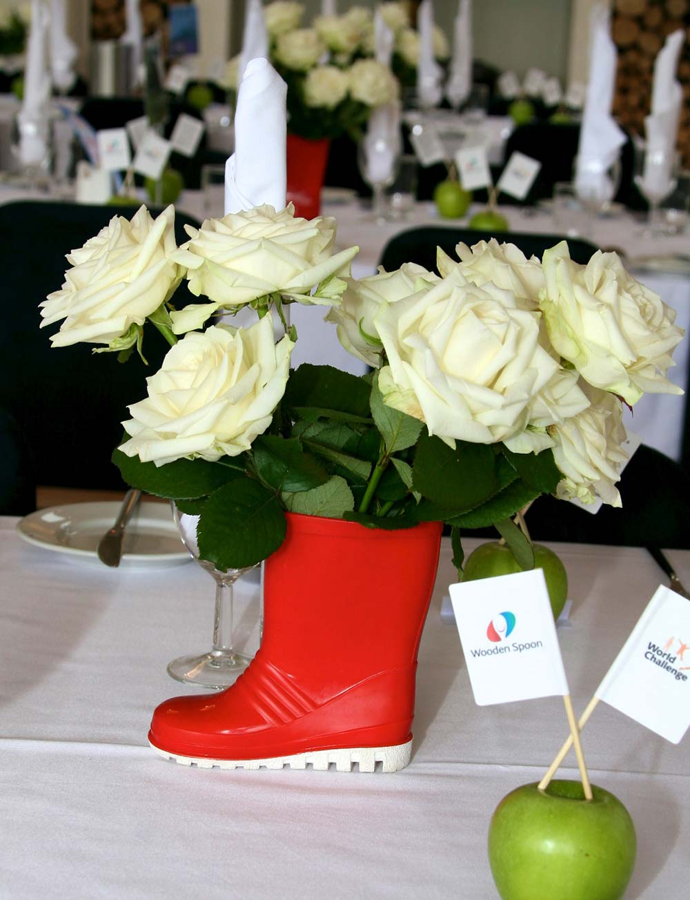 Longhouse weddings Somerset - table decorations